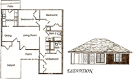 Three Bedroom / Two Bath - 1,505 Sq. Ft.*